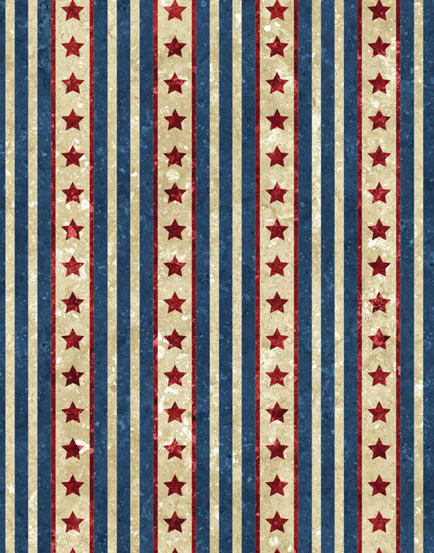 Northcott Stonehenge - Old Glory - Stripe - 20161-49 New Covenant Quilting